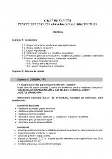Caiet de sarcini pentru executarea lucrarilor de arhitectura - Pagina 1