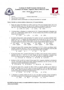 Test - piețe de capital nr 1 - Pagina 1