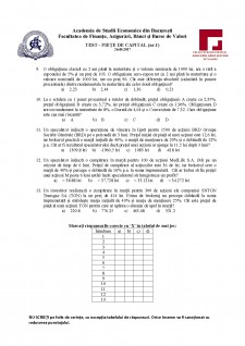 Test - piețe de capital nr 1 - Pagina 2