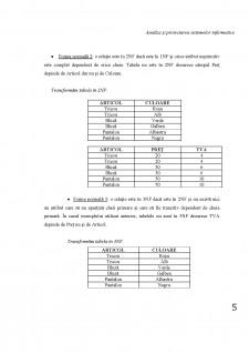 Analiza și proiectarea sistemelor informatice - Gestiunea unui magazin de haine - Pagina 5
