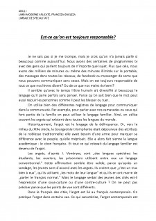 Est-ce qu'on est toujours responsable - Pagina 1