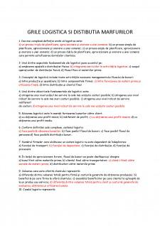 Grile logistica și distibuția mărfurilor - Pagina 1