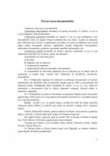 Prezervarea documentelor - Pagina 1