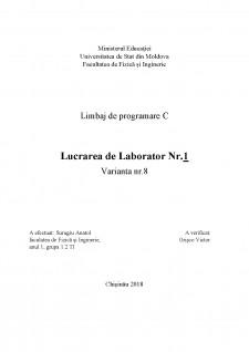 Limbaj de programare C - Lab nr 1 - Pagina 1