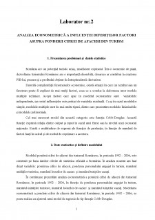Econometrie - Regresie simplă și multiplă - Pagina 1