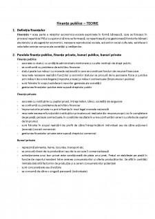 Finanțe publice - Pagina 1