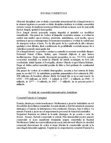 Istoria Comertului - Pagina 1
