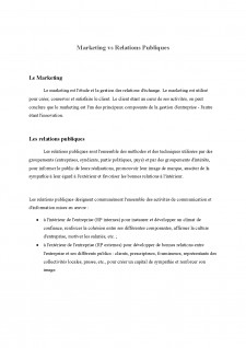 Marketing contre PR - Pagina 1