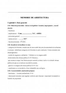 Memoriu de arhitectura - Pagina 1