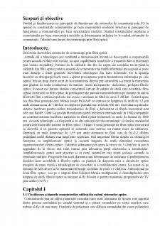 Studiul comutatorilor optici - Comutatori pe baza sincronizării modelor și calculul unui traseu de comunicații prin fibră optică - Pagina 3