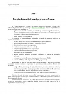 Ingineria programării - Pagina 1