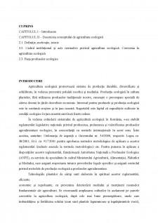 Agricultura ecologică - Pagina 1