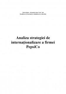 Analiza strategiei de internaționalizare a firmei PepsiCo - Pagina 1