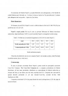 Analiza strategiei de internaționalizare a firmei PepsiCo - Pagina 4