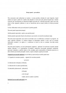 Drept penal - procedura - Pagina 1