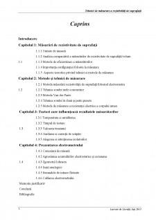 Tehnici de măsurare a rezistivități de suprafață - Pagina 1