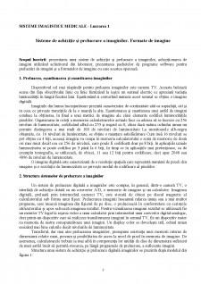 Sisteme imagistice medicale - Pagina 1