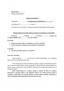 Plângere contravențională - Pagina 1