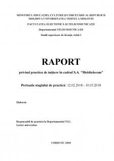 Raport practică - Moldtelecom SA - Pagina 1