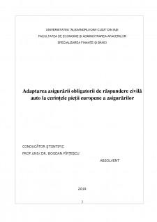 Adaptarea asigurării obligatorii de răspundere civilă auto la cerințele pieții europene a asigurărilor - Pagina 2