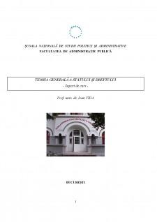 Teoria generală a statului și dreptului - Pagina 1
