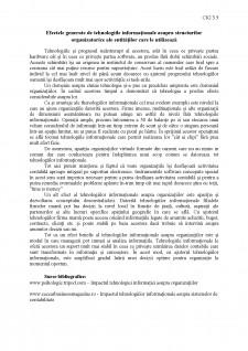 Efectele generate de tehnologiile informaționale asupra structurilor organizatorice ale entităților care le utilizează - Pagina 1