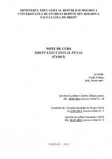 Drept executional penal (Ciclul I) - Pagina 1