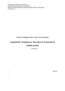 Victimizarea - Introducere în sistemul de justiție penală - Pagina 1