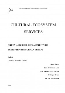 Green and blue infrastructure - Cultural ecosystem services - Pagina 1