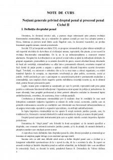 Note de curs drept penal și procesual - Pagina 1