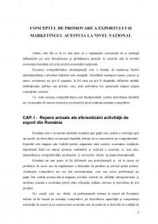 Conceptul de promovare a exportului și marketingul acestuia la nivel național - Pagina 4