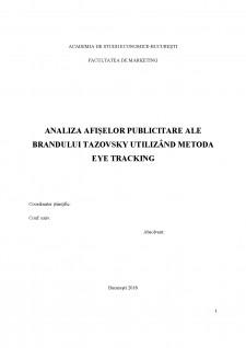 Analiza afișelor publicitare ale brandului Tazovsky utilizând metoda eye tracking - Pagina 1