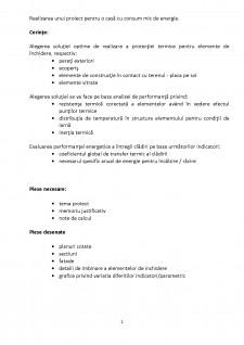 Realizarea unui proiect pentru o casă cu consum mic de energie - Pagina 2