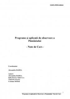 Programe și aplicații de observare a pământului - Pagina 1