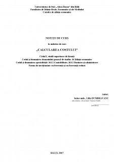 Calculația costului - Pagina 1