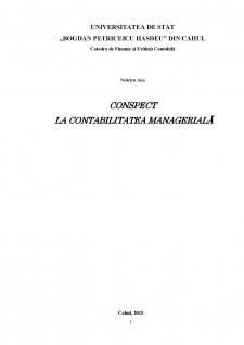 Conspect la contabilitatea managerială - Pagina 1