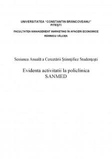 Evidența activității la policlinica SanMed - Pagina 1