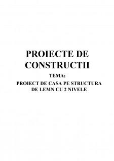 Proiect de casă pe structură de lemn cu 2 nivele - Pagina 1