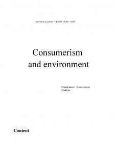 Consumerism and environment - Pagina 1