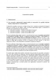 Dreptul transporturilor - Contractul de expediție - Pagina 1