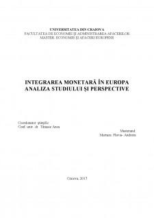 Integrarea monetară în Europa - Analiza studiului și perspective - Pagina 2