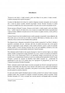 Integrarea monetară în Europa - Analiza studiului și perspective - Pagina 4
