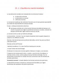 L'equilibre du marche monetaire - Pagina 1
