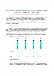 Proceduri de expertizare prin examene de laborator pentru produsele agricole și alimentare - Pagina 1