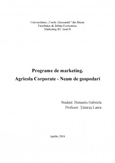 Programe de marketing - Agricola Corporate - Neam de gospodari - Pagina 1