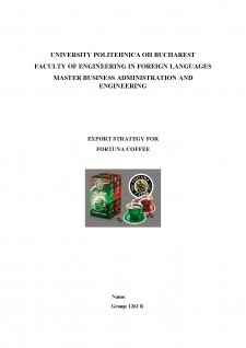 Export strategy for Fortuna Coffee - Pagina 1