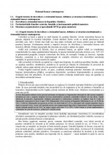 Sistemul bancar contemporan - Pagina 1
