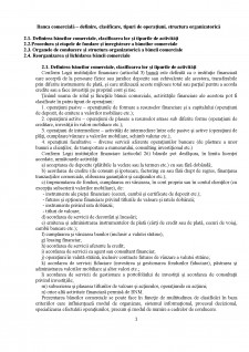 Banca comerciala - definire, clasificare, tipuri de operatiuni, structura organizatorica - Pagina 1