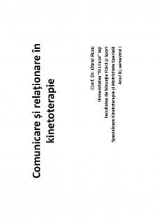 Comunicare și relaționare în kinetoterapie - Pagina 1