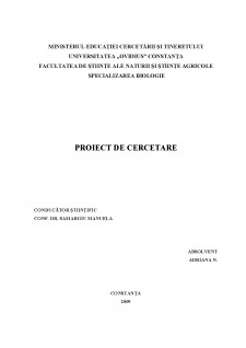 Biocenozele bentale de pe substratul dur din sudul litoralului românesc - Pagina 1